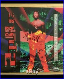 2Pac Tupac Shakur Signed Album Cover first press vinyl release Hip Hop Rap RARE