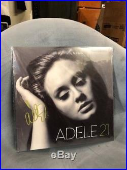 ADELE SIGNED ALBUM VINYL 21 AUTHENTIC AUTOGRAPH Hand Signed