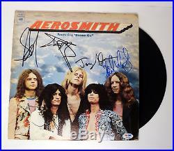 Aerosmith Complete Band Signed Dream On 1st Vinyl Record Album Psa/dna Coa