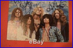 Aerosmith Complete Band Signed Dream On Vinyl Lp Record Album Flawless