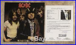 Angus Young Signed Autographed AC/DC Highway To Hell Vinyl Album Cover JSA LOA
