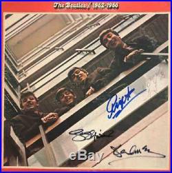 Beatles Red Album 1962-1966 Signed Vinyl LP with COA