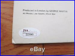 Beatles signed album by Paul McCartney & Ringo Starr JSA coa + Proof! LP vinyl