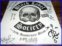 Black Label Society Bls Zakk Wylde Autographed/signed Vinyl Album Cover