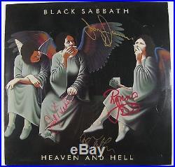 Black Sabbath Heaven And Hell Ronnie Dio Signed Autograph Record Album JSA Vinyl