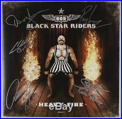 Black Star Riders Signed Autograph Record Album Vinyl JSA Heavy Fire