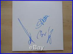 Böhse Onkelz Autogramme signed LP-Cover Weißes Album Vinyl