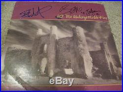 Bono And The Edge Signed Autograph Unforgettable Fire Vinyl Album Coa In Person