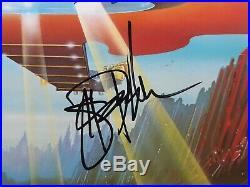 Boston vinyl Album Signed Auto Including Brad Delp Rare dont look back