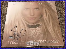 Britney Spears Signed Autograph Glory Album Vinyl 12 Lp Jsa Authenticated Coa