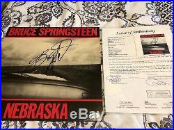 Bruce Springsteen Autographed Nebraska Vinyl Album Signed Jsa Coa Auto Hof