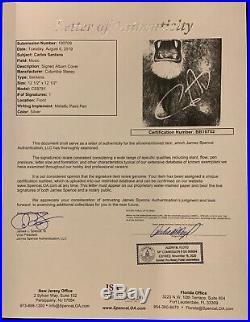 Carlos Santana JSA Autograph Signed Album Record Vinyl LP