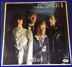 Chrissy Hynde Martin Chambers Signed The Pretenders II Vinyl Album Lp Psa/dna