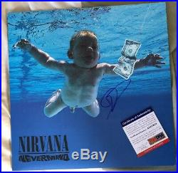 Dave Grohl Signed Autographed Nevermind Vinyl Album Nirvana Foo Fighters Psa/dna