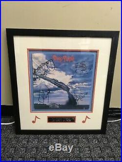 Deep Purple Stormbringer Vinyl Album Custom Framed Signed By 4 Band Members