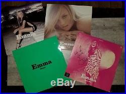 EMMA BUNTON (Spice Girls) Free Me album vinyl SET Maybe I'll Be There SIGNED LP