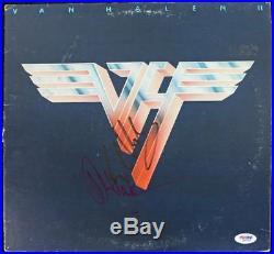 Eddie Van Halen & Alex Van Halen Signed Album Cover With Vinyl PSA/DNA #Q52110