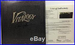 Eddie Vedder Signed Autographed Vitalogy Vinyl Album Record Lp Pearl Jam Coa Jsa