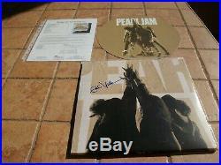 Eddie Vedder Signed Ten Lp Vinyl Album Record Jsa Letter Of Authenticity