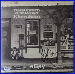 Elton John Signed Authentic Autographed Album Cover with Vinyl PSA/DNA #AB16204