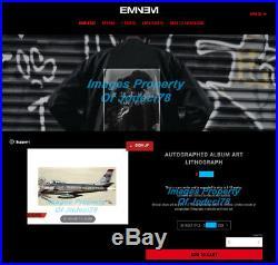 Eminem Signed 12x24 Kamikaze Album Art Lithograph Print JSA COA Vinyl SSLP20