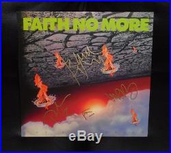 FAITH NO MORE BAND SIGNED THE REAL THING VINYL ALBUM MIKE PATTON GOULD BORDIN x4