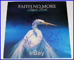 FAITH NO MORE SIGNED AUTHENTIC'ANGEL DUST' RECORD ALBUM LP VINYL withCOA X4 PROOF