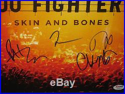 Foo Fighters Signed & Framed Vinyl Skin & Bones Album Psa Dna Letter # W09923