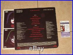 Gene Simmons signed KISS Solo 1978 Album LP Record Vinyl Auto JSA #V73418
