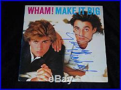 George Michael Signed Make It Big Vinyl Album Wham! Andrew Ridgeley Proof Rip 2