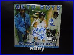 Geto Boys Signed We Cant Be Stopped Vinyl Album Bushwick Scarface Willie Rare