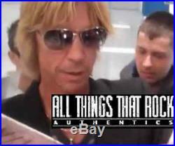 Guns N Roses Signed Vinyl Axl Rose Autograph Album w Slash Duff Sorum Reed Proof