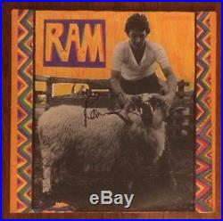 Hand Signed Paul McCartney Vinyl Album RAM Original BEATLES Lennon + my COA