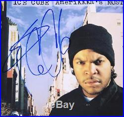 Ice Cube NWA N. W. A. Signed Autograph Amerikkka's Most Wanted Album Vinyl LP