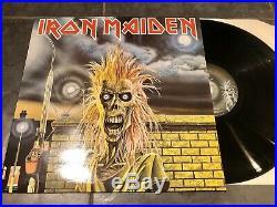 Iron Maiden EMC 3330 1980 SIGNED PROMO 12 Lp Album Vinyl Record & Press Pack