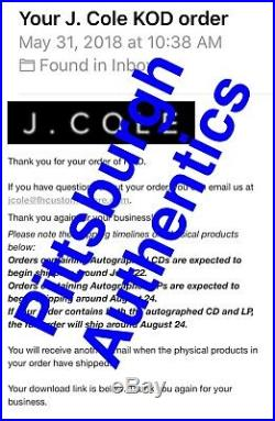 J COLE SIGNED KOD VINYL ALBUM RECORD AUTOGRAPH Kendrick Lamar Drake Rap JSA COA