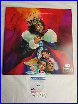 J Cole Signed KOD Vinyl with PSA COA Autographed Rap Hip Hop Music Album Grammy