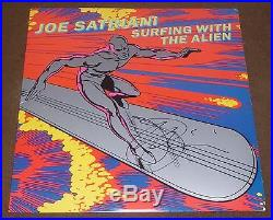 JOE SATRIANI SIGNED SURFING WITH THE ALIEN LP with PROOF! RECORD ALBUM VINYL