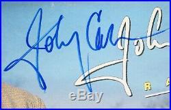 JOHNNY CASH Signed Autograph Rainbows Album Vinyl Record LP