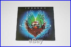 JOURNEY BAND SIGNED'EVOLUTION' VINYL ALBUM COVER AUTHENTIC X4 withCOA PROOF