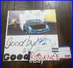 JUICE WRLD SIGNED AUTO GOODBYE & GOOD RIDDANCE ALBUM VINYL LP with COA PSA PROOF
