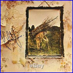 John Paul Jones Signed Vinyl Led Zeppelin Autographed Album 4 LP