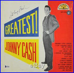 Johnny Cash Signed Greatest Album Cover With Vinyl Autographed BAS #B73205
