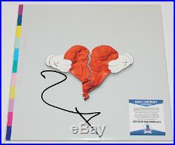 KANYE WEST SIGNED'808s & HEARTBREAK' VINYL ALBUM RECORD LP 2 BECKETT COA BAS