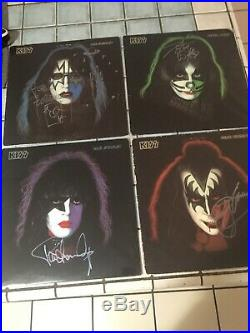 KISS Precious set of signed Solo Albums in Vinyl