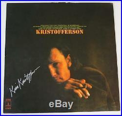 KRIS KRISTOFFERSON Signed Autograph Kristofferson Album Vinyl Record LP