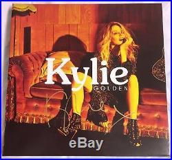 KYLIE MINOGUE hand signed Golden VINYL album LP autograph tour promo rare new