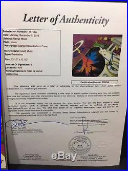 Kanye West Signed Graduation Vinyl Album Record The Life Of Pablo Yeezy Auto Jsa