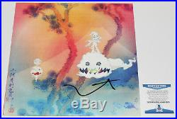 Kanye West Signed Kids See Ghosts Vinyl Album Record Lp Beckett Bas Coa Kid Cudi