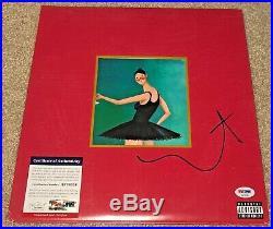 Kanye West Signed Mbdtf Vinyl Album Yeezy My Beautiful Dark Twisted Fantasy Psa